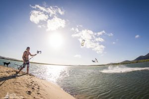 Kitesurfing at Double Island